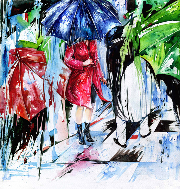 20 Beautiful Watercolor Paintings by Geliographic Studio